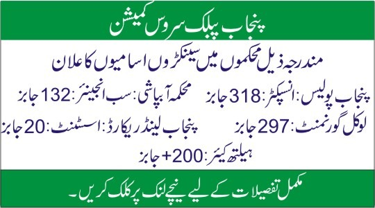 PPSC Advertisement No 14/2020