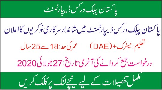PWD Jobs 2020