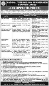 NATIONAL TRANSMISSION AND DESPATCH COMPANY LIMITED JOB