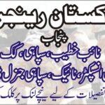 Pakistan Ranger Punjab Jobs 2020