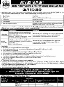 Sunday Jobs 5 July 2020 APS College