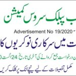 PPSC Advertisement No 19/2020
